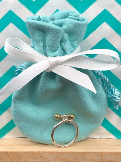 Tiffany & Co. TC021 Silver and 18K gold hook and eye ring Image 1