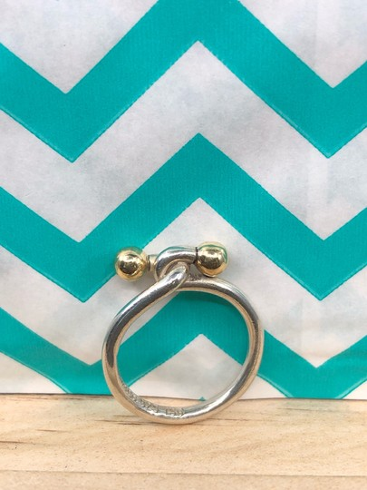 Tiffany & Co. TC021 Silver and 18K gold hook and eye ring Image 2