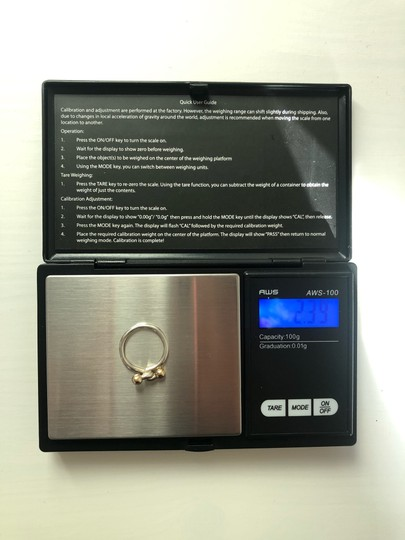Tiffany & Co. TC021 Silver and 18K gold hook and eye ring Image 3