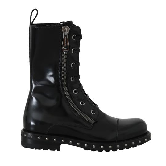 Preload https://img-static.tradesy.com/item/26131025/dolce-and-gabbana-black-leather-studded-biker-bootsbooties-size-eu-35-approx-us-5-regular-m-b-0-0-540-540.jpg