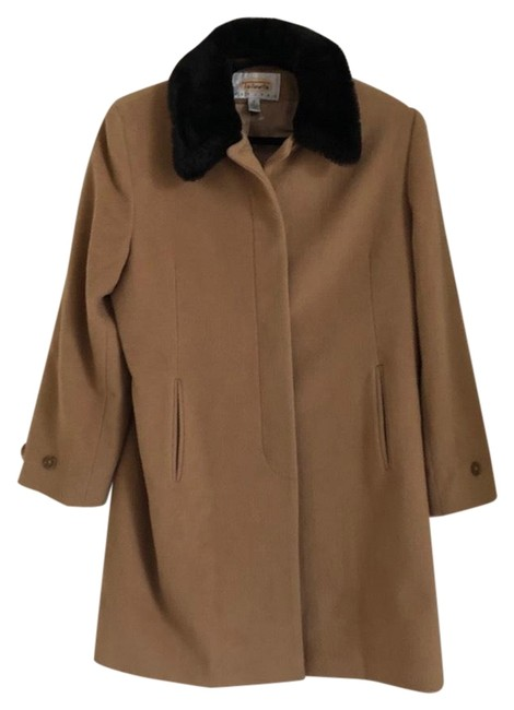 Preload https://img-static.tradesy.com/item/26131039/talbots-tan-wool-cashmere-faux-fur-collar-coat-size-petite-12-l-0-4-650-650.jpg