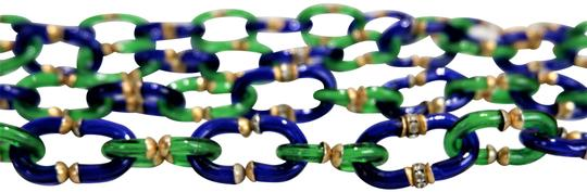 Preload https://img-static.tradesy.com/item/26131063/chanel-green-blue-gold-rare-vintage-195060-s-and-murano-necklace-0-4-540-540.jpg