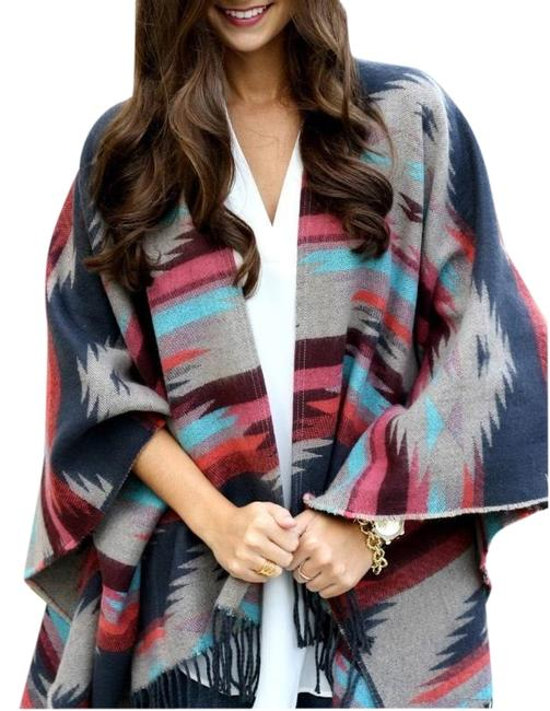 Preload https://img-static.tradesy.com/item/26131074/american-eagle-outfitters-multicolored-ponchoblanket-throw-ponchocape-size-0-xs-0-4-650-650.jpg