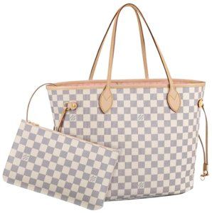 Louis Vuitton Vintage Studded Leather Monogram Tote in White