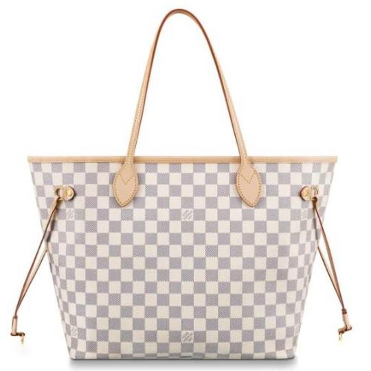 Louis Vuitton Vintage Studded Leather Monogram Tote in White Image 6