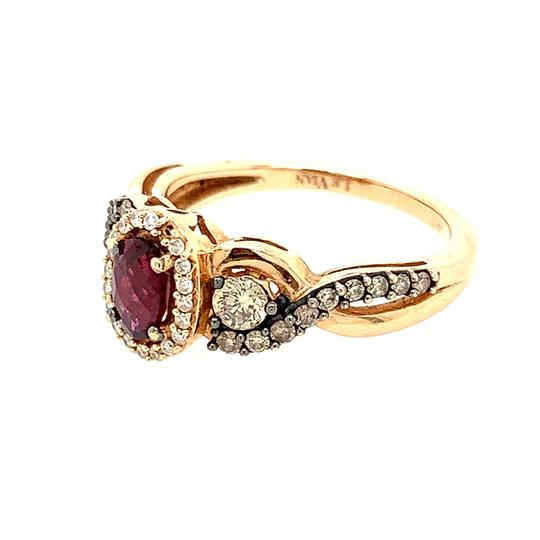 LeVian 14k LeVian Raspberry Garnet Diamond Ring Image 1