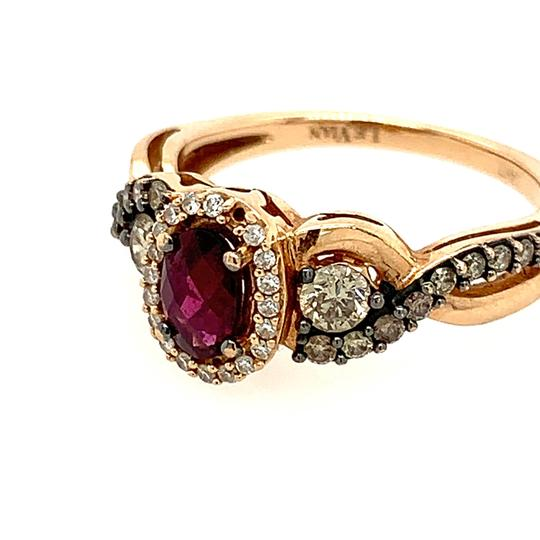 LeVian 14k LeVian Raspberry Garnet Diamond Ring Image 2