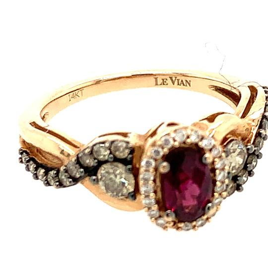 LeVian 14k LeVian Raspberry Garnet Diamond Ring Image 4