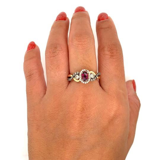 LeVian 14k LeVian Raspberry Garnet Diamond Ring Image 5