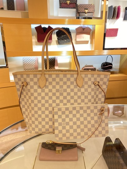 Louis Vuitton Vintage Studded Leather Monogram Tote in White Image 1
