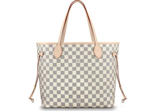 Louis Vuitton Vintage Studded Leather Monogram Tote in White Image 5
