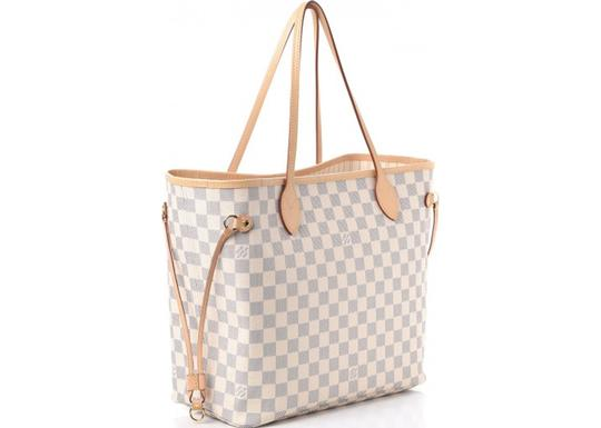 Louis Vuitton Vintage Studded Leather Monogram Tote in White Image 7