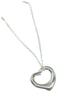 Tiffany & Co. TC023 Elsa Peretti Open heart charm pendant necklace Silver 925