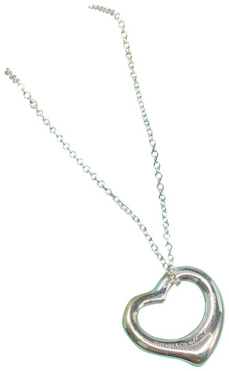 Tiffany & Co. TC023 Elsa Peretti Open heart charm pendant necklace Silver 925 Image 0