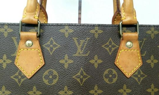 Louis Vuitton Monogram Leather Book Sac Plat Tote in Brown Image 1
