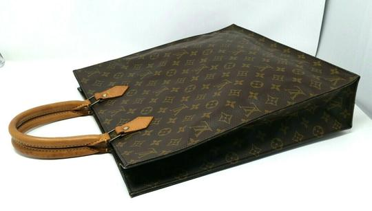 Louis Vuitton Monogram Leather Book Sac Plat Tote in Brown Image 2