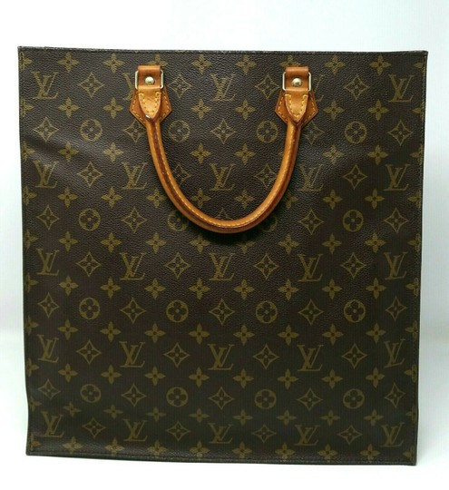 Louis Vuitton Monogram Leather Book Sac Plat Tote in Brown Image 3