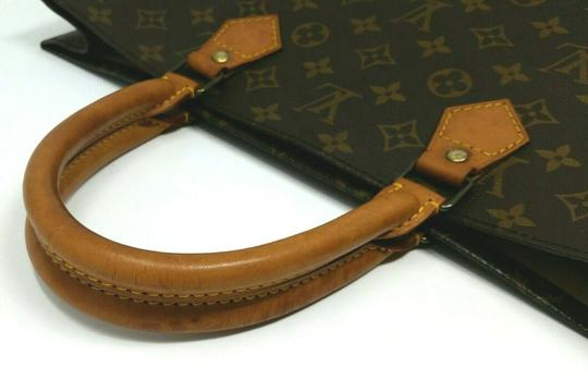Louis Vuitton Monogram Leather Book Sac Plat Tote in Brown Image 4