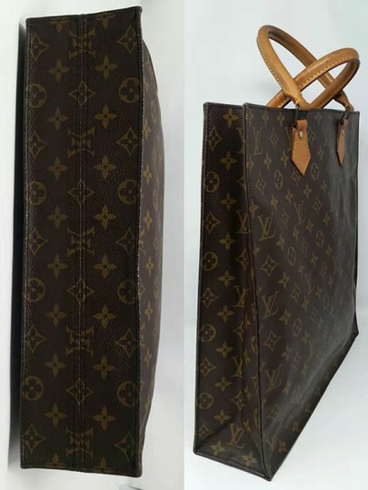 Louis Vuitton Monogram Leather Book Sac Plat Tote in Brown Image 6