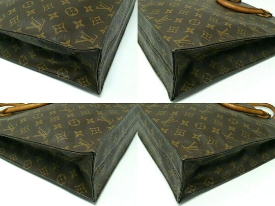 Louis Vuitton Monogram Leather Book Sac Plat Tote in Brown Image 7