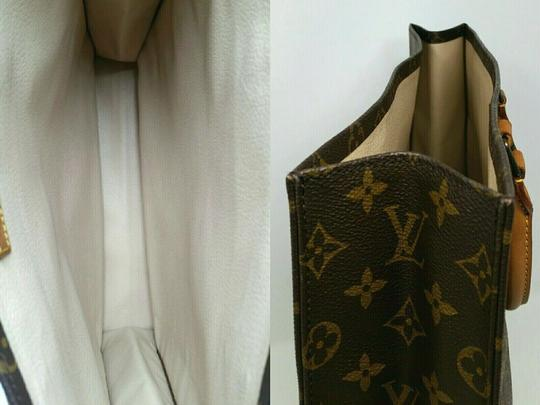 Louis Vuitton Monogram Leather Book Sac Plat Tote in Brown Image 8