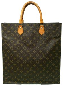 Louis Vuitton Monogram Leather Book Sac Plat Tote in Brown