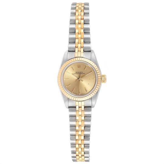 Rolex Rolex Oyster Perpetual 24mm Steel Yellow Gold Ladies Watch 67193 Image 1