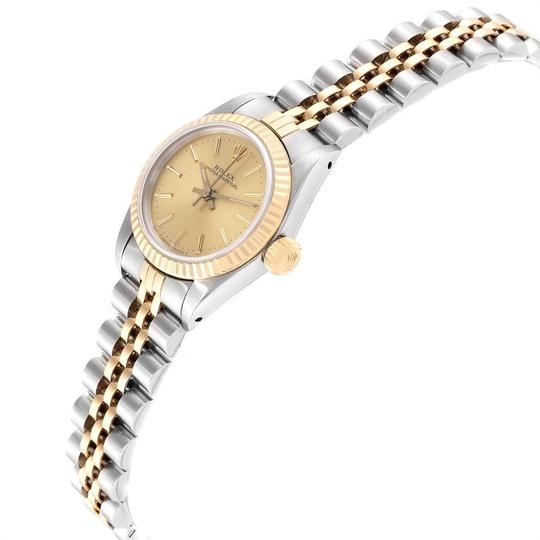 Rolex Rolex Oyster Perpetual 24mm Steel Yellow Gold Ladies Watch 67193 Image 3