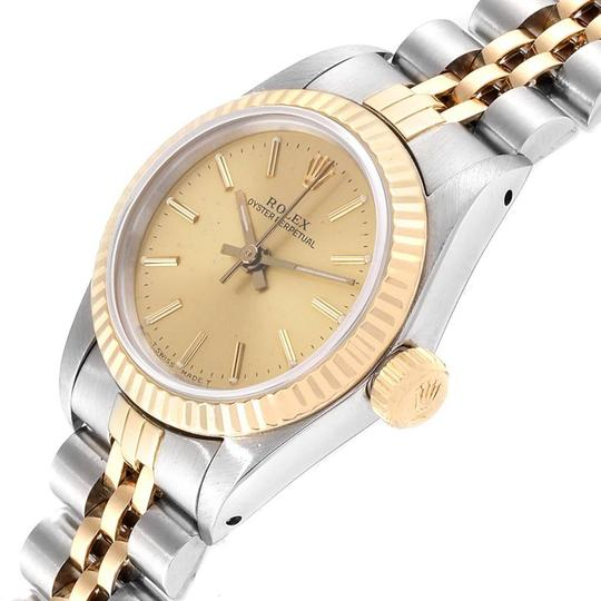 Rolex Rolex Oyster Perpetual 24mm Steel Yellow Gold Ladies Watch 67193 Image 4