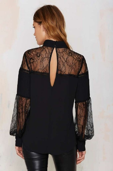 Nasty Gal Tops Lace To The Finish Top Black Image 2