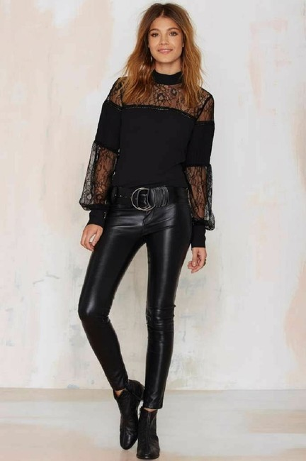 Nasty Gal Tops Lace To The Finish Top Black Image 3