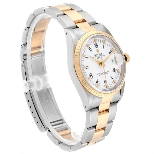 Rolex Rolex Date Mens Steel 18k Yellow Gold White Dial Mens Watch 15223 Image 2