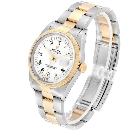 Rolex Rolex Date Mens Steel 18k Yellow Gold White Dial Mens Watch 15223 Image 3