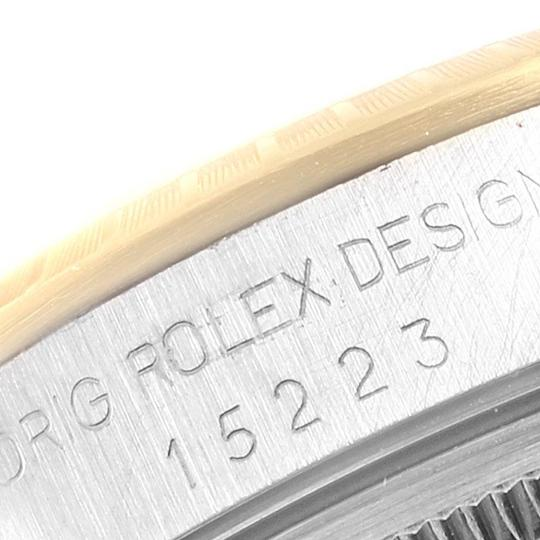 Rolex Rolex Date Mens Steel 18k Yellow Gold White Dial Mens Watch 15223 Image 6