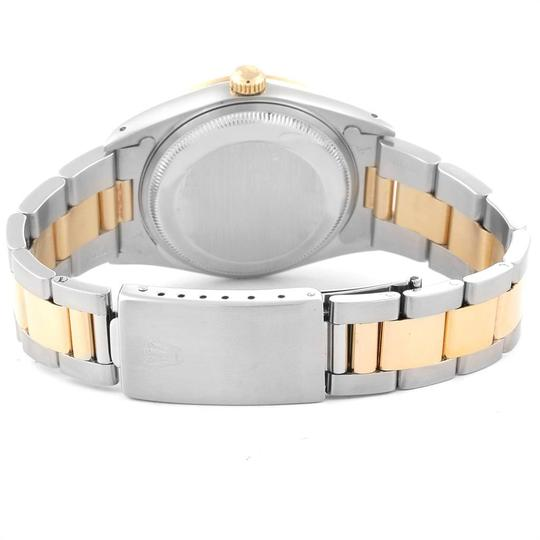 Rolex Rolex Date Mens Steel 18k Yellow Gold White Dial Mens Watch 15223 Image 8