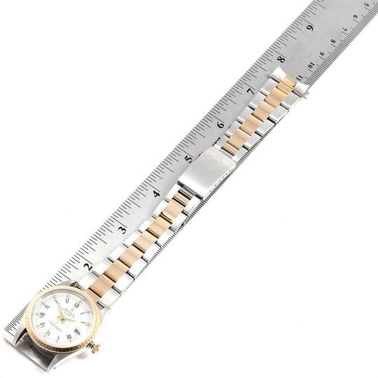 Rolex Rolex Date Mens Steel 18k Yellow Gold White Dial Mens Watch 15223 Image 9