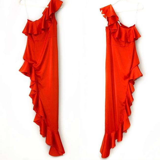 Lovers + Friends Ruffle Gown One Shoulder Dress Image 2