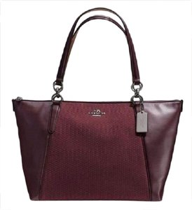 Coach New Ava Chainlink Shoulder Tote in Oxblood- Antique SV
