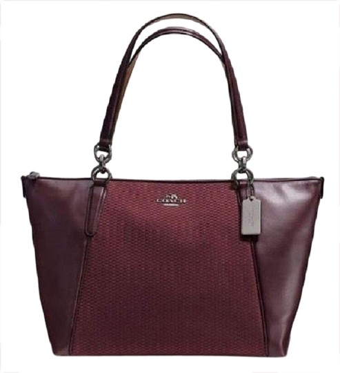 Preload https://img-static.tradesy.com/item/26131176/coach-ava-new-legacy-exploding-reps-ava-totesold-out-oxblood-antique-sv-jacquard-leather-tote-0-4-540-540.jpg