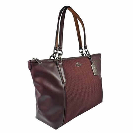 Coach New Ava Chainlink Shoulder Tote in Oxblood- Antique SV Image 2
