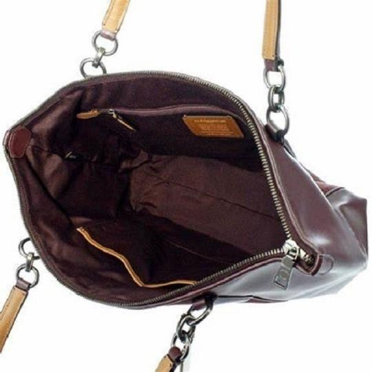 Coach New Ava Chainlink Shoulder Tote in Oxblood- Antique SV Image 3