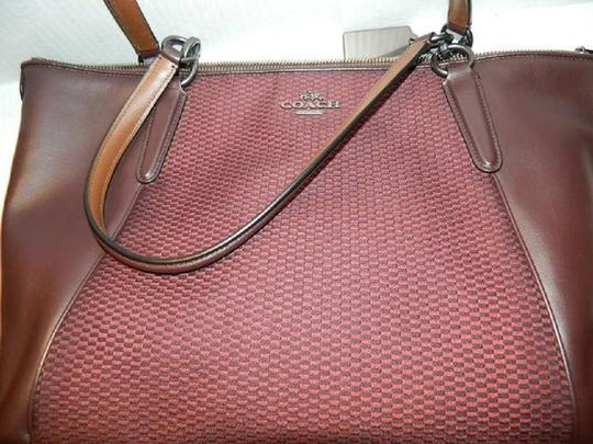 Coach New Ava Chainlink Shoulder Tote in Oxblood- Antique SV Image 6