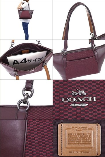 Coach New Ava Chainlink Shoulder Tote in Oxblood- Antique SV Image 7