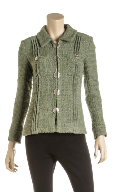 Preload https://img-static.tradesy.com/item/26131193/chanel-green-wool-blend-tweed-cuba-collection-486772-blazer-size-4-s-0-0-650-650.jpg