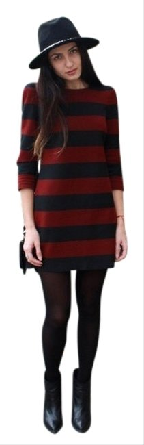 Preload https://img-static.tradesy.com/item/26131197/zara-red-and-black-striped-short-casual-dress-size-2-xs-0-4-650-650.jpg