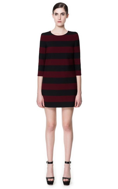Zara short dress Red and Black on Tradesy Image 3