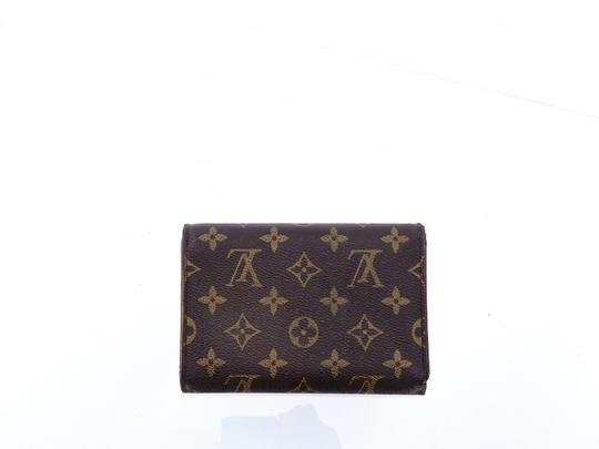 Louis Vuitton Continental Monogram Canvas Leather Clutch Trifold Wallet Image 2