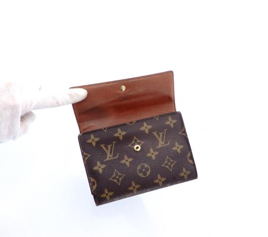 Louis Vuitton Continental Monogram Canvas Leather Clutch Trifold Wallet Image 4