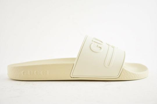 Gucci Loafer Mule Slide Flat Marmont white Sandals Image 1