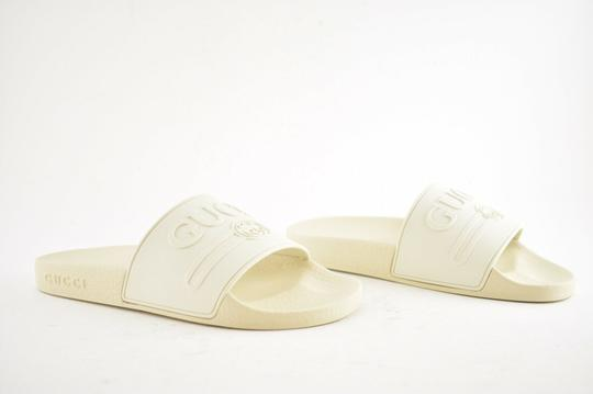 Gucci Loafer Mule Slide Flat Marmont white Sandals Image 3